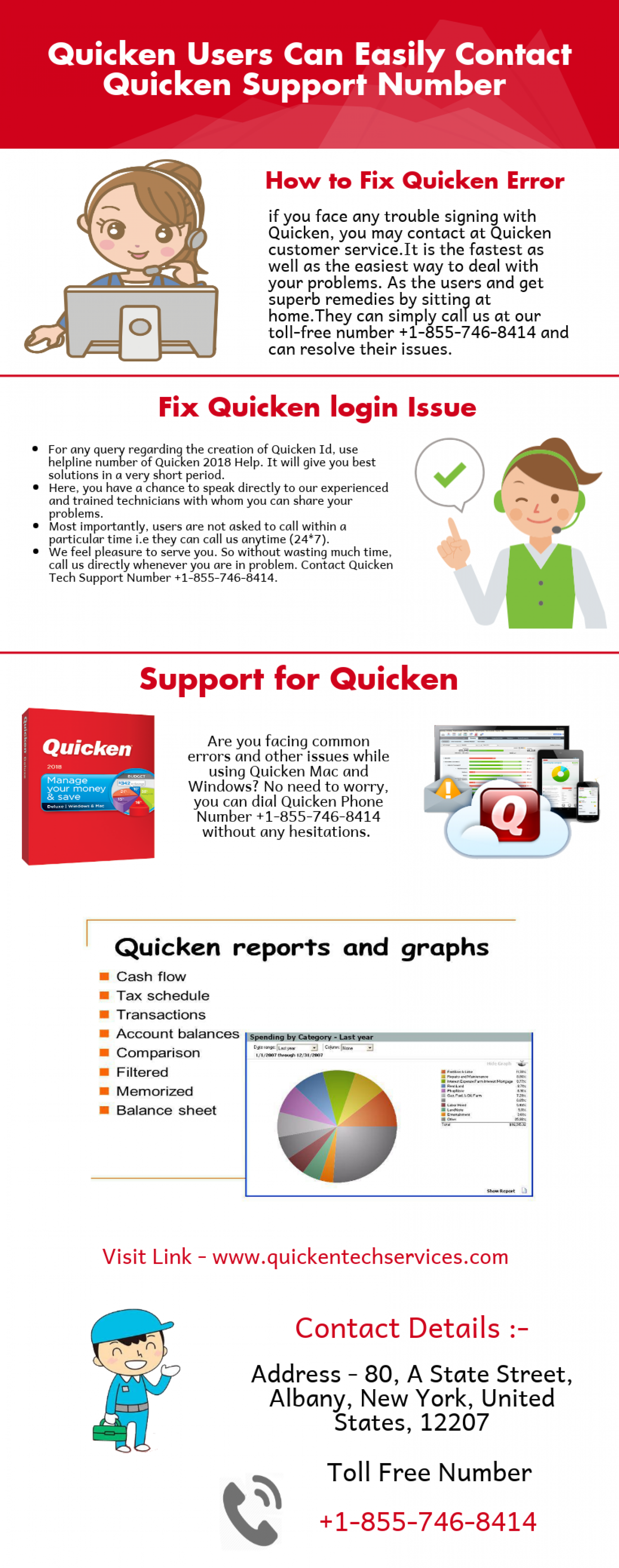 Quicken Customer Support Number  Infographic