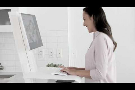 QUICKSTAND ECO HEIGHT ADJUSTABLE DESK | OFFICE FURNITURE SUPPLIERS | HUMANSCALE INDIA Infographic