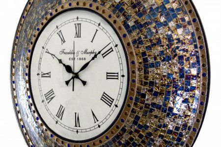 Quiet Motion Design Handmade Fired Gold Mosaic Wall Clock By DecorShore Infographic