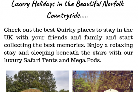 Quirky places to stay in UK Infographic
