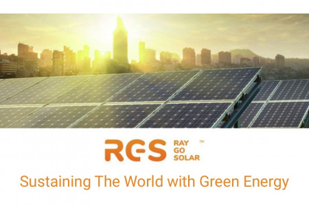 Ray Go Solar - Sustaining The World with Green Energy Infographic
