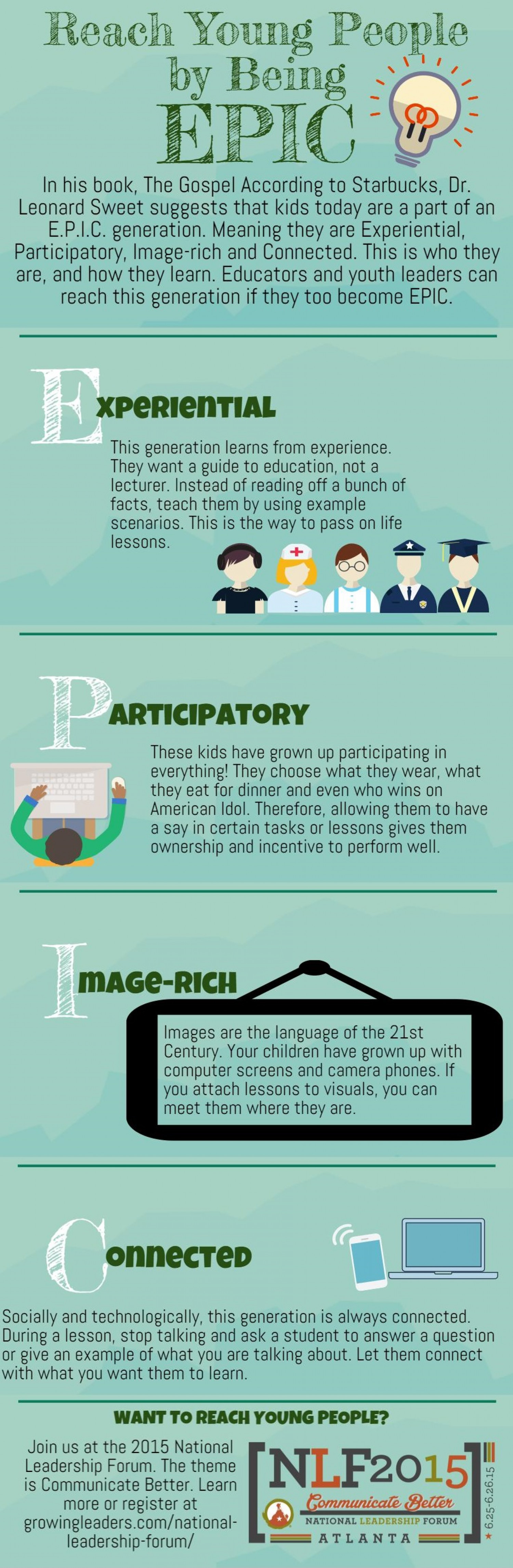 Reach Young People by Being EPIC Infographic