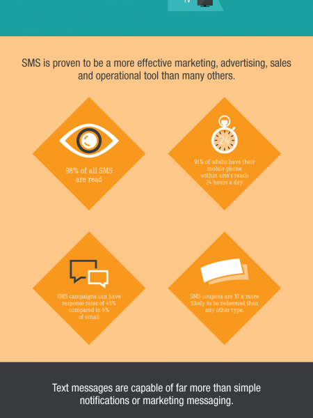 Reach your Customers with Targeted SMS Marketing Infographic