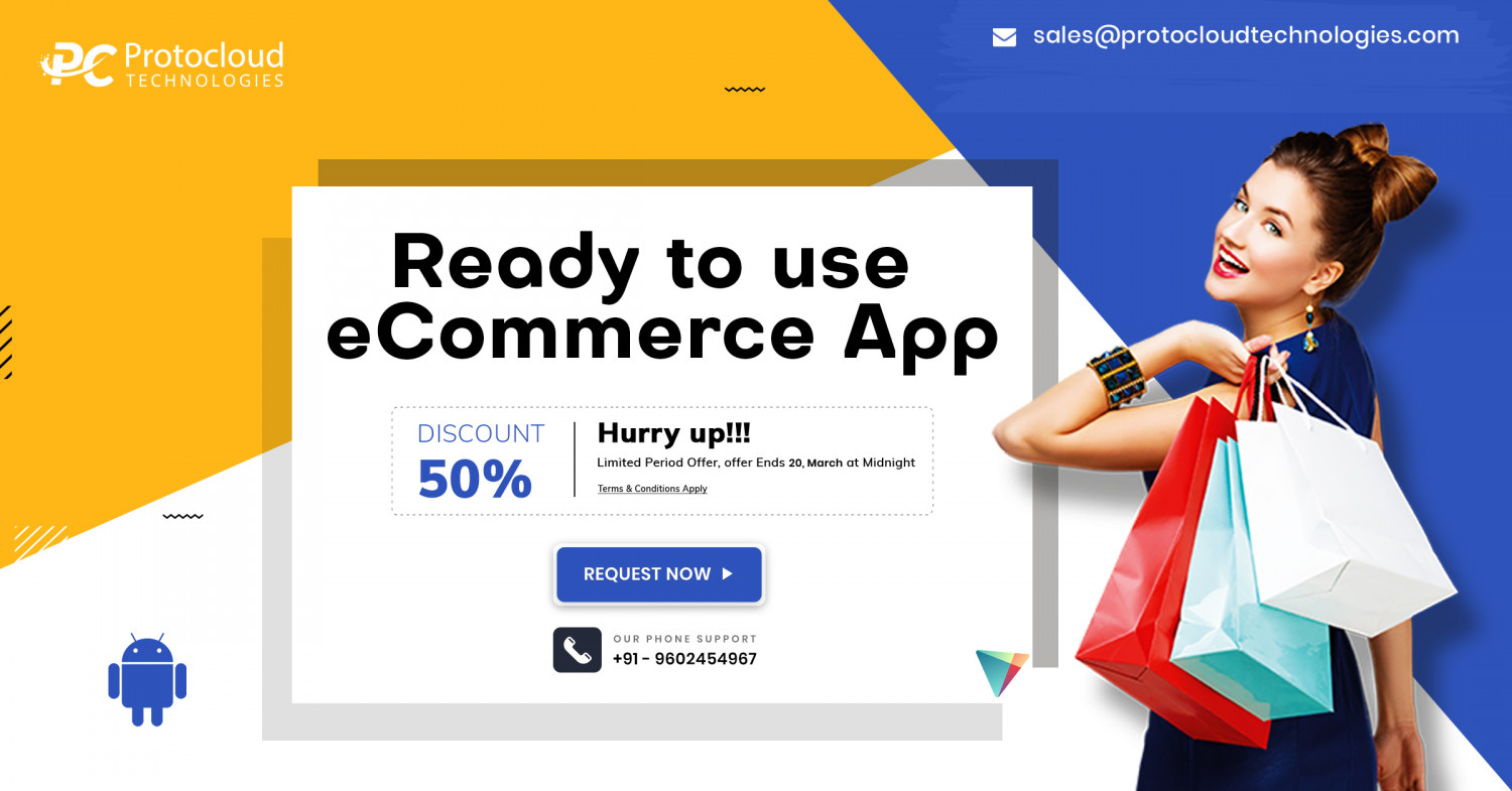 ReadyMade eCommerce Mobile Application Infographic