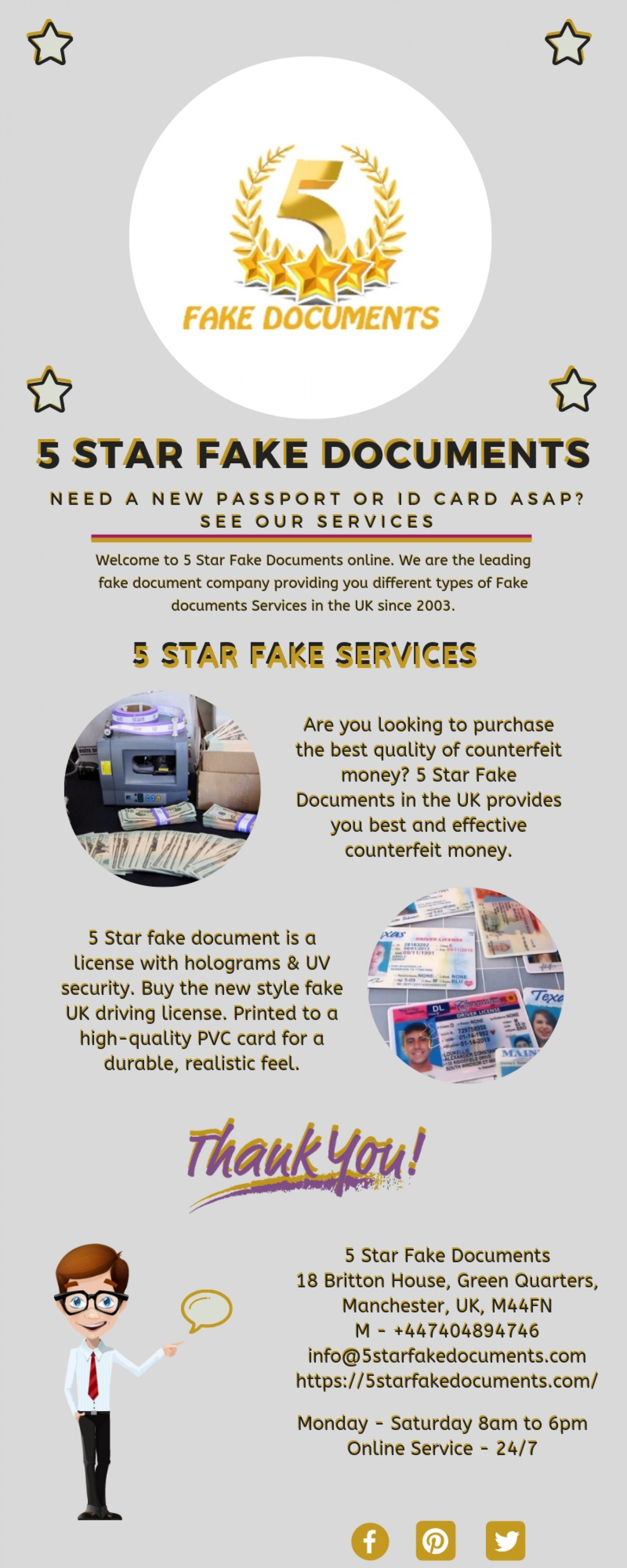 Real and Fake UK Driving License Online For Sale | 5 Star Fake Documents Infographic