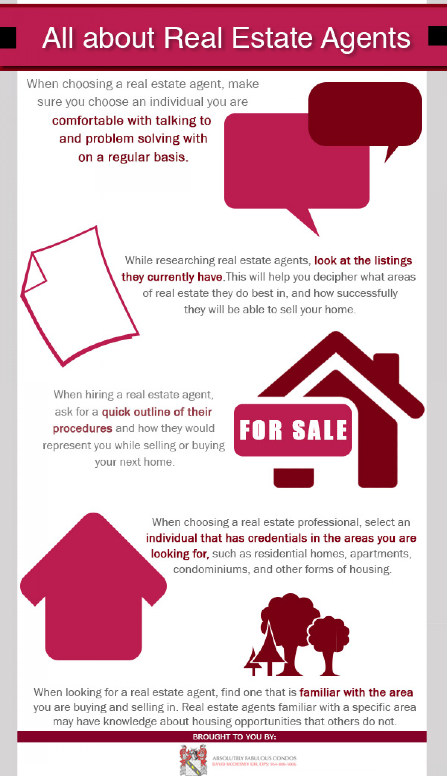 All About Real Estate Agents Infographic