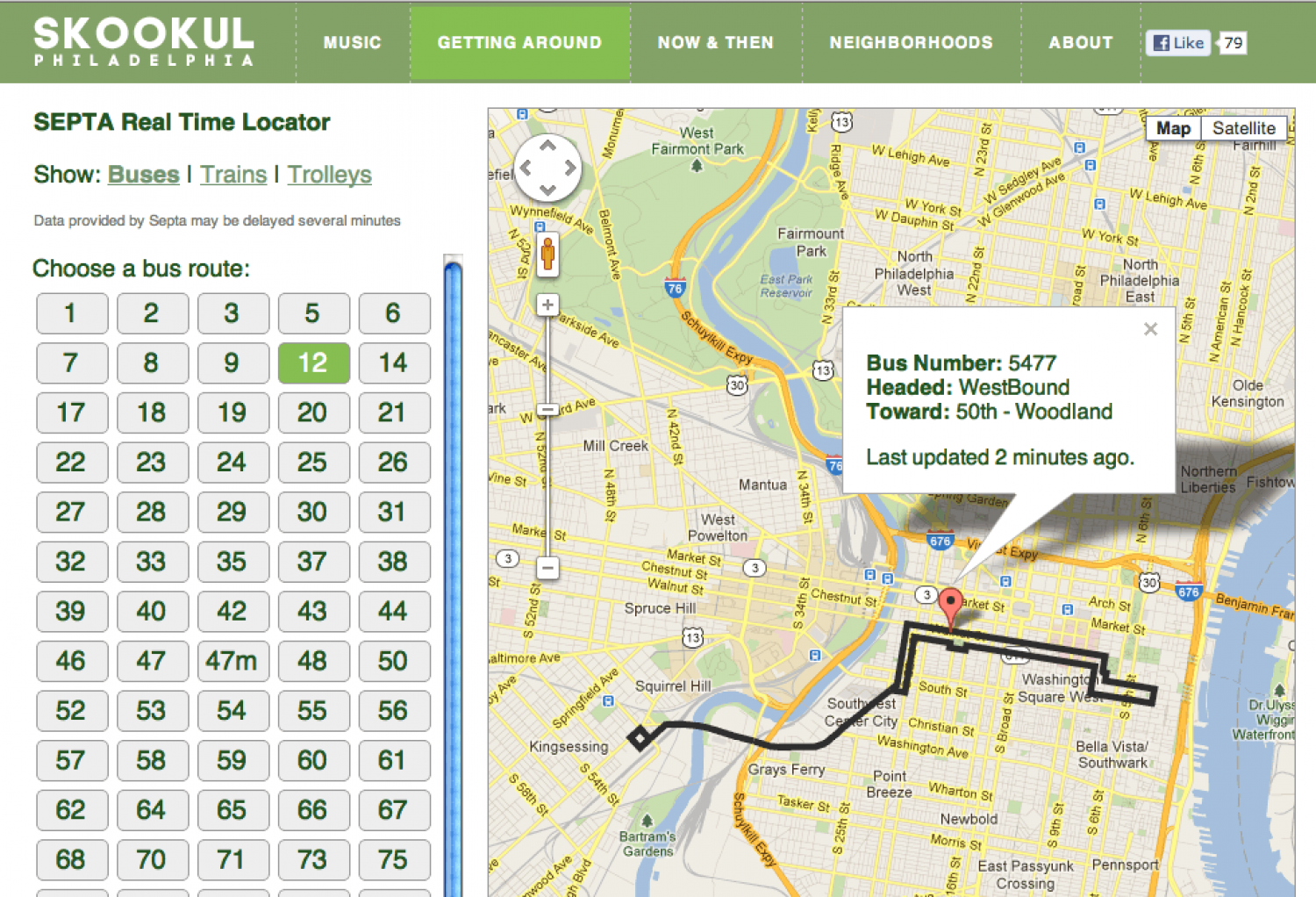 Real Time Bus Locator Infographic