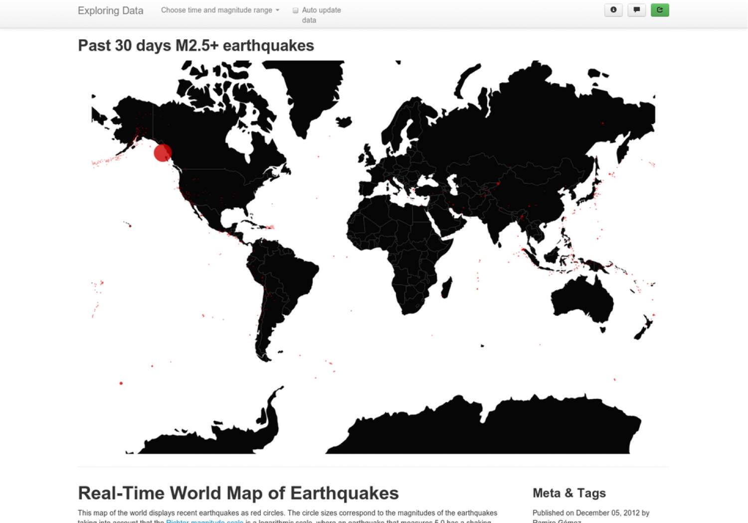 Earthquake infographics visual real time geo map of earthquakes infographic gumiabroncs Images