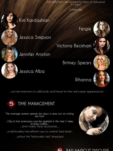 Reasons for Hair Extensions…. Infographic