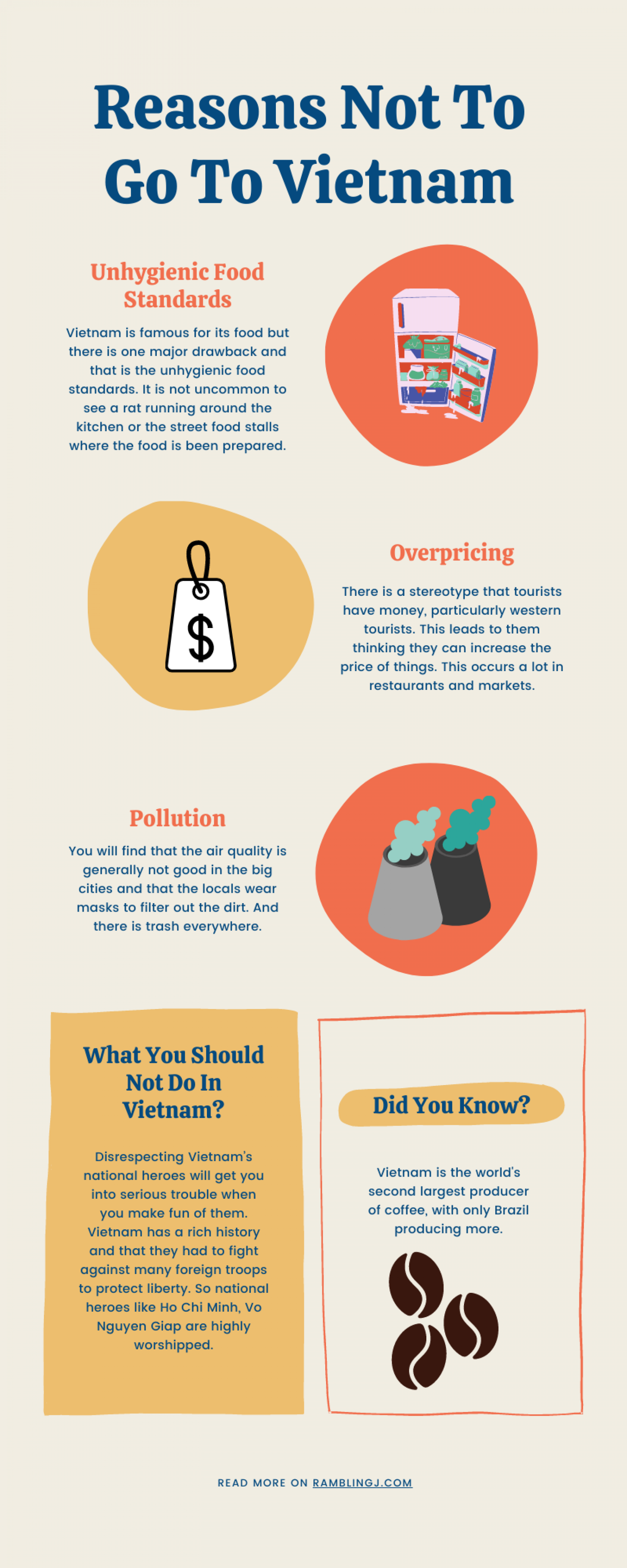 Reasons Not To Go To Vietnam Infographic