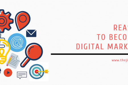Reasons To Become a Digital Marketer Infographic