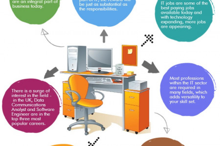 Reasons To Choose A Career In IT Infographic