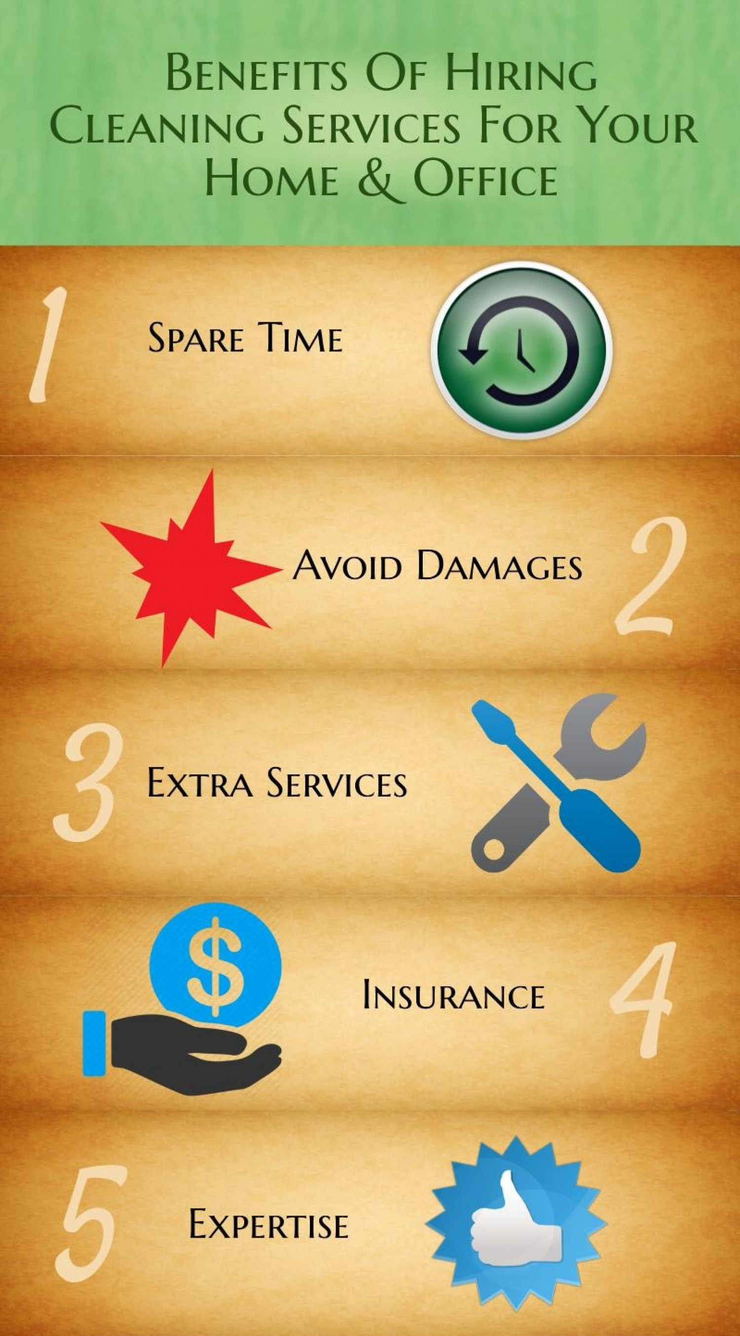Reasons to Hire a Cleaning Service for your Office Infographic