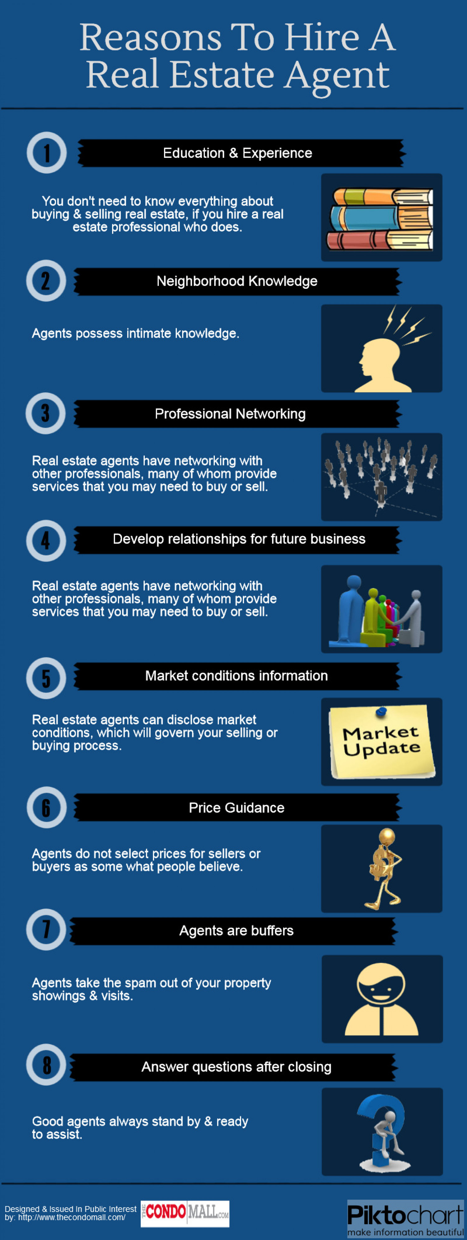 Reasons To Hire A Real Estate Agent Infographic