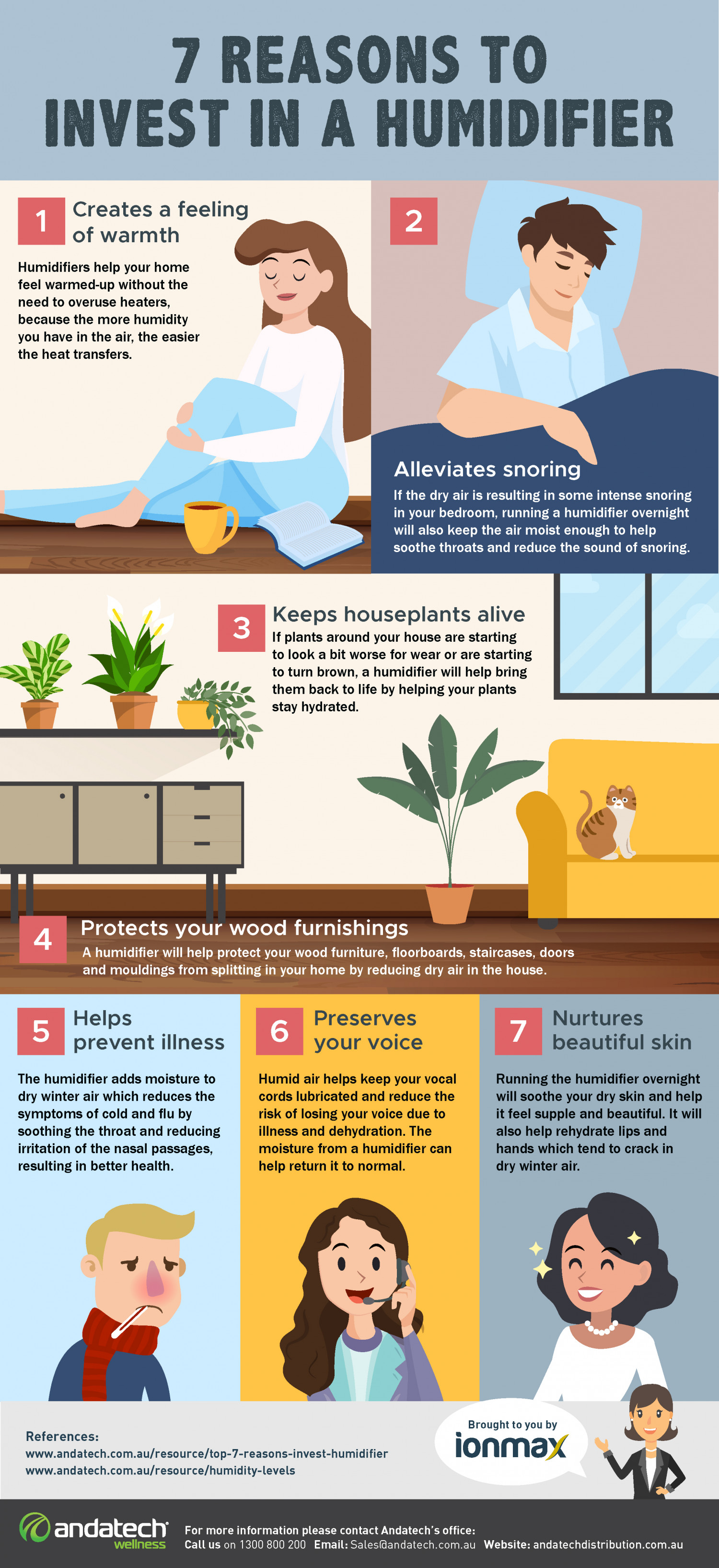Reasons to invest in a humidifier Infographic