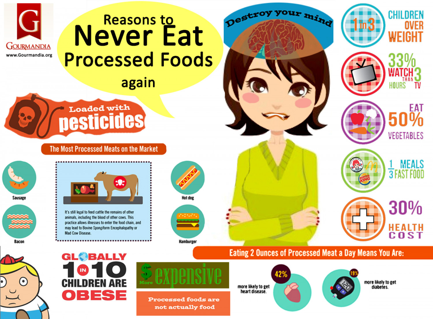 Reasons to Never Eat Processed Foods Again Infographic