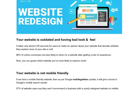 Reasons Why it's time to your website redesign Infographic