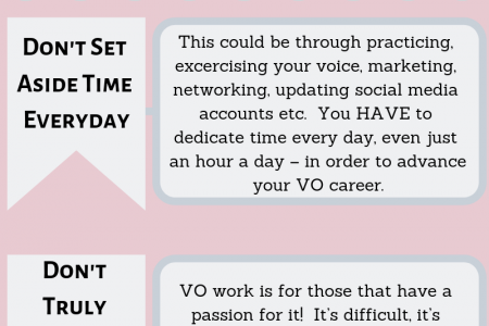 Reasons Why One Fail At Voice Over Life Infographic