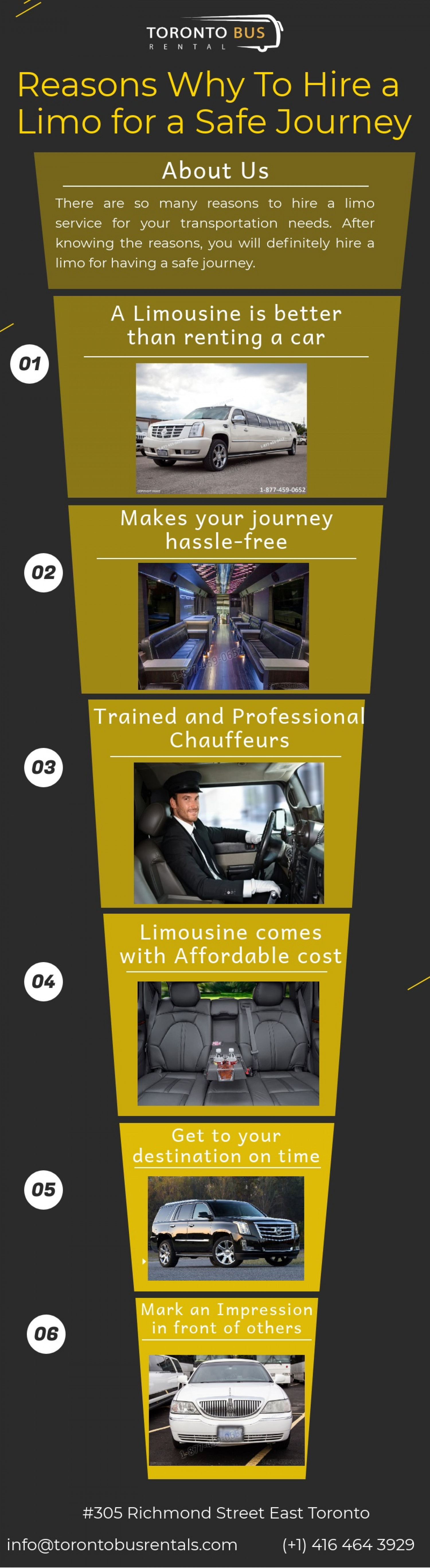 Reasons Why To Hire A Limo For A Safe Journey Infographic