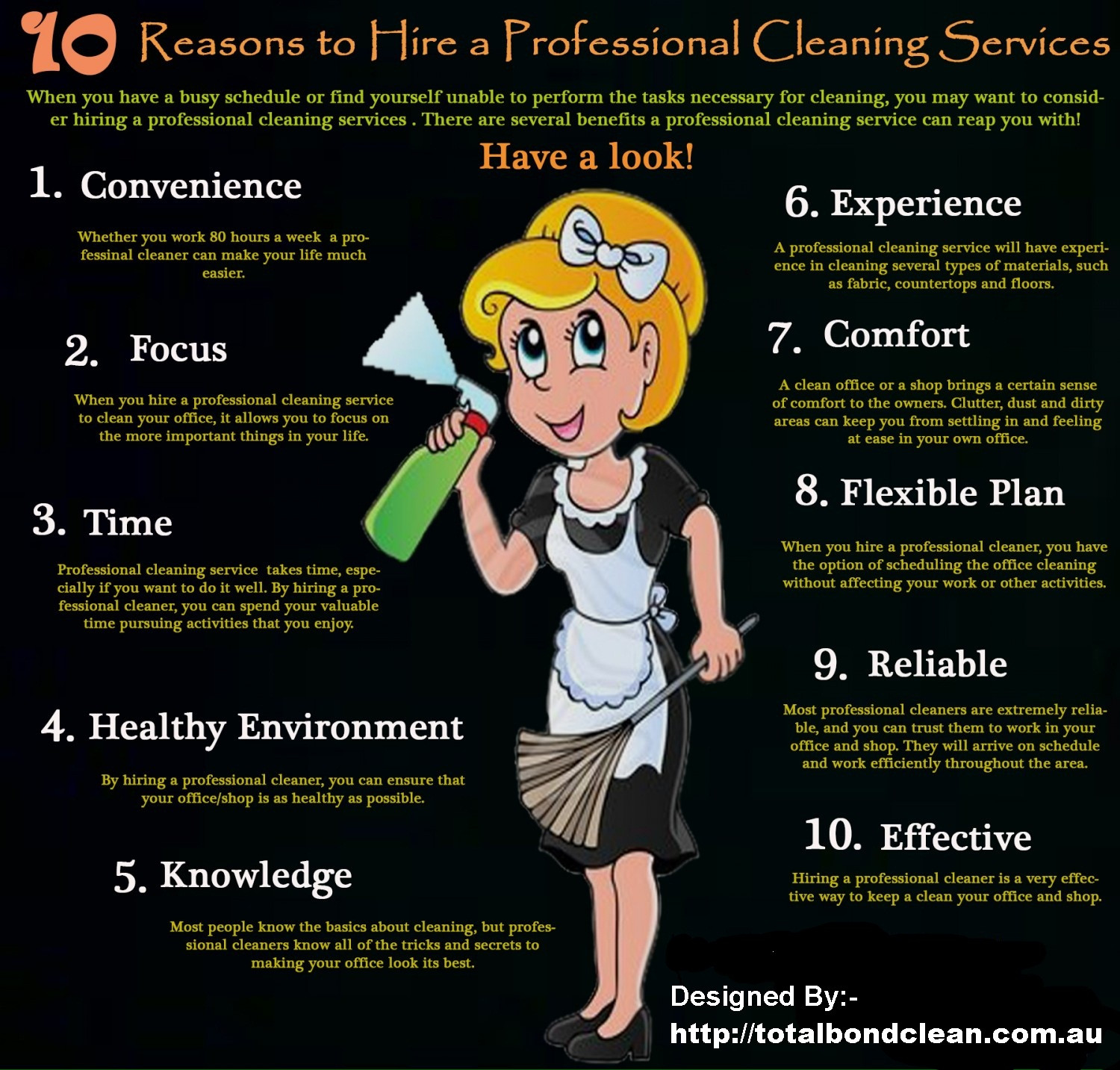 Reasons Why To Hire Total Bond Cleaners Infographic