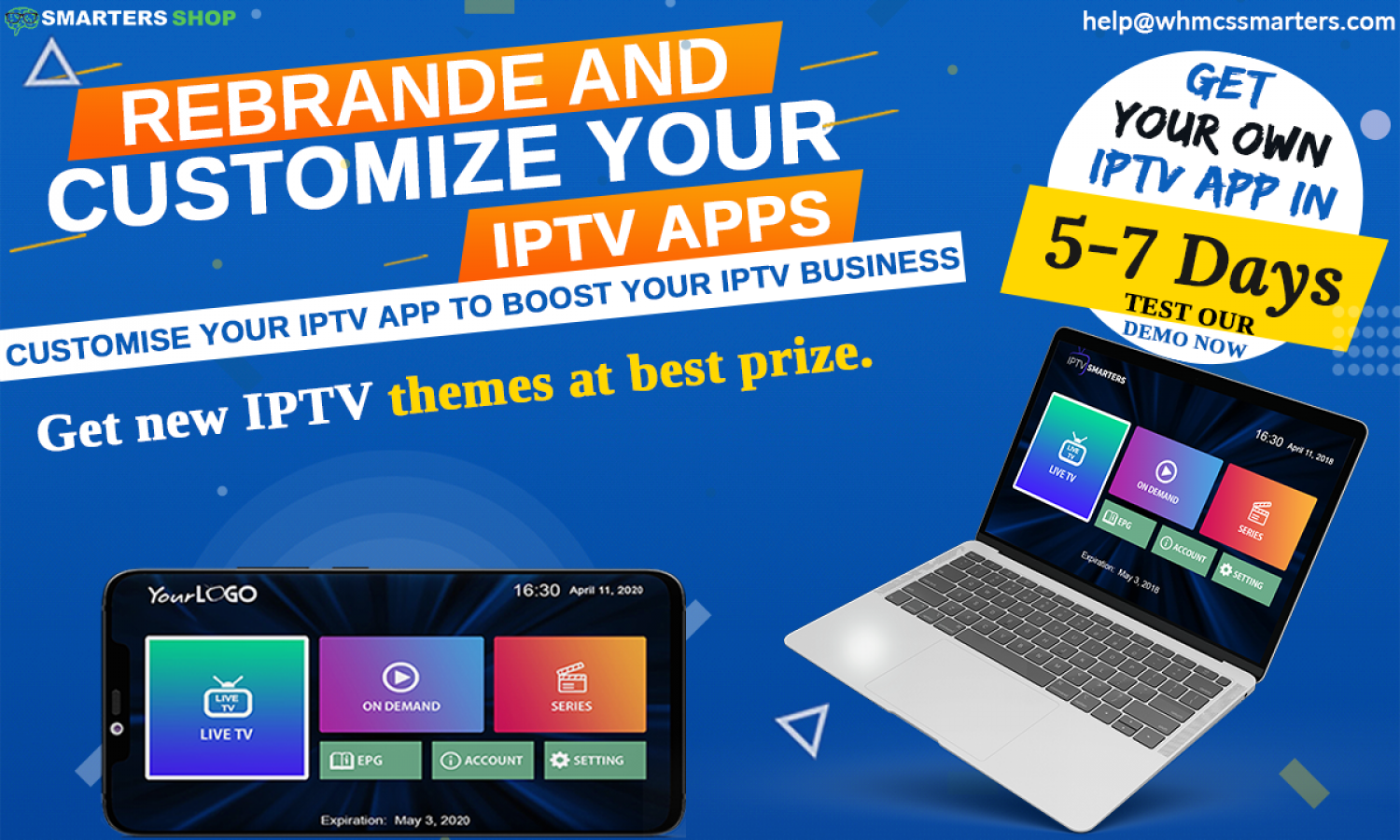 REBRAND AND CUSTOMIZE YOUR IPTV APPS Infographic
