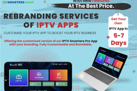 REBRANDING SERVICES OF IPTV APPS Infographic