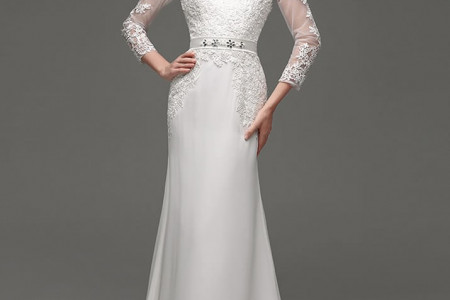 Recommended Sheath Floor Length V Neck Lace Wedding Dress Infographic