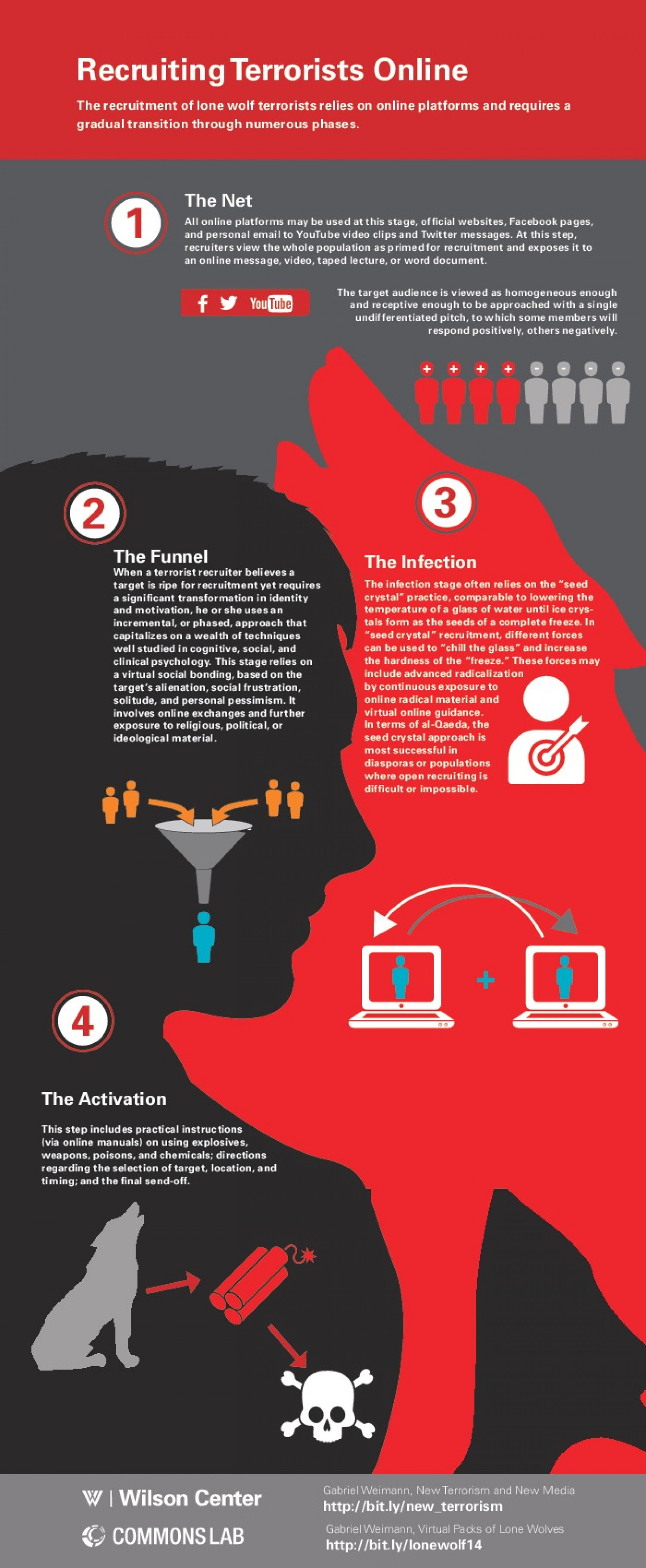 Recruiting Terrorists Online Infographic