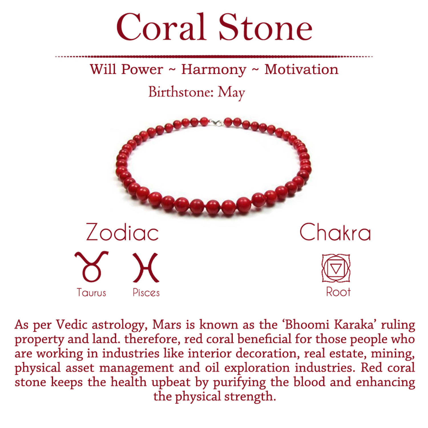Red Coral Gemstone Jewellery (Bracelets, Pendants & Ear ring) Infographic