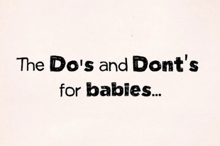 The Do's and Dont's for Babies Infographic
