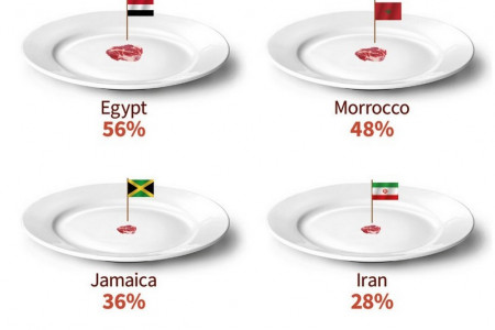 Red Meat Consumption Around the World Infographic