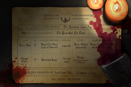 Red Wedding Certificate Infographic