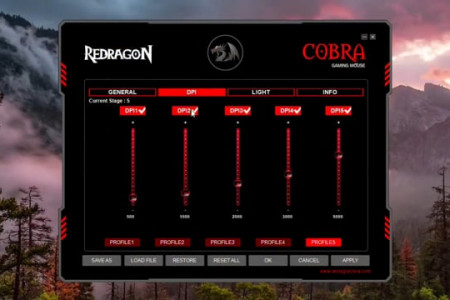 Redragon COBRA M711 Chroma 10000 DPI Wired Gaming Mouse Infographic