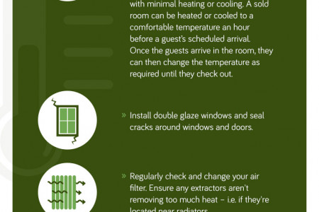 Reduce Business Energy Costs With Energy Saving Tips - The Hotel Industry Infographic