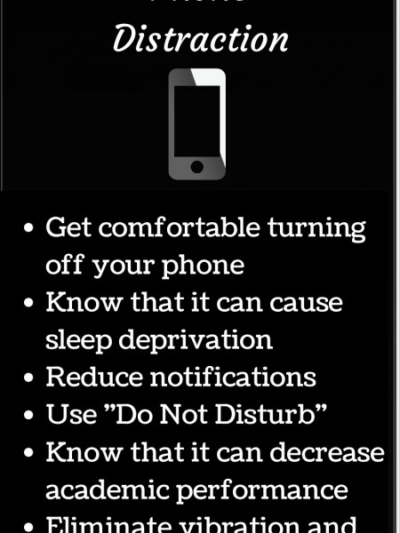 Reduce Phone Distraction Infographic