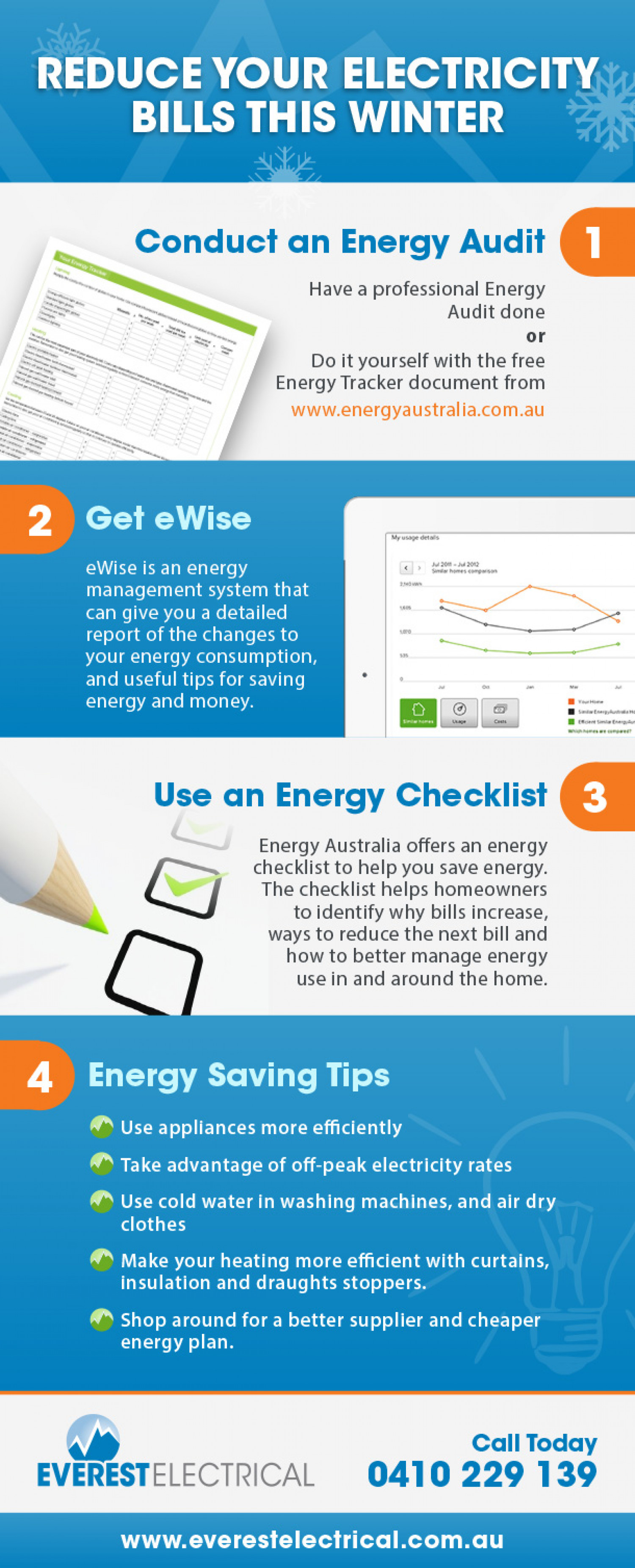 Reduce Your Electricity Bills This Winter Infographic