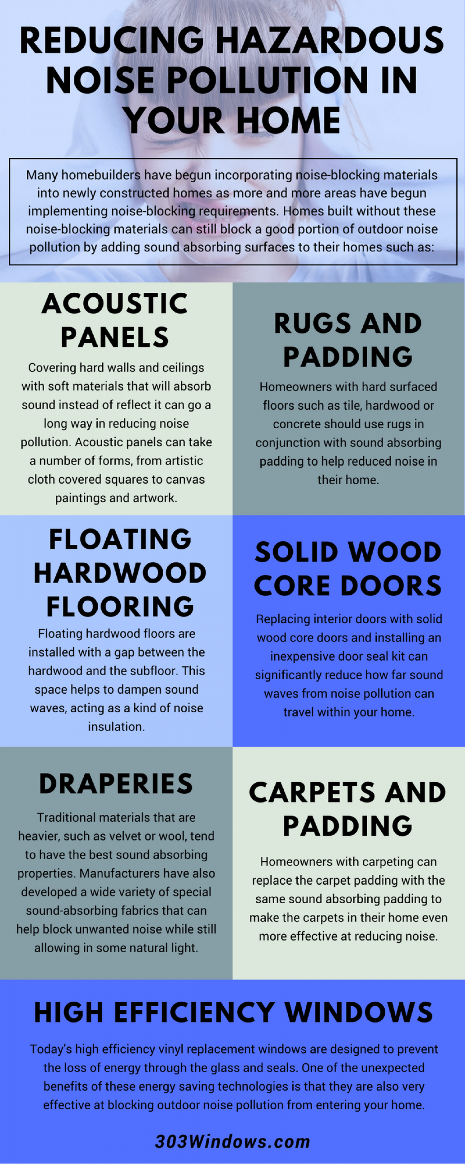 Reducing Hazardous Noise Pollution in Your Home Infographic Infographic