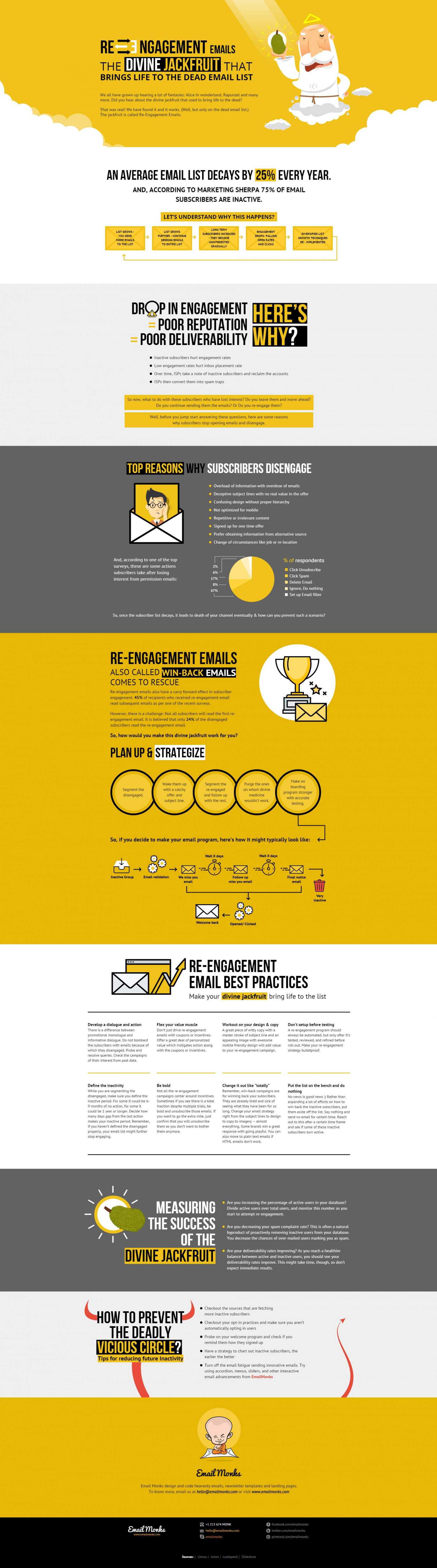 Re-engagement Email: The Divine Jackfruit Infographic  Infographic