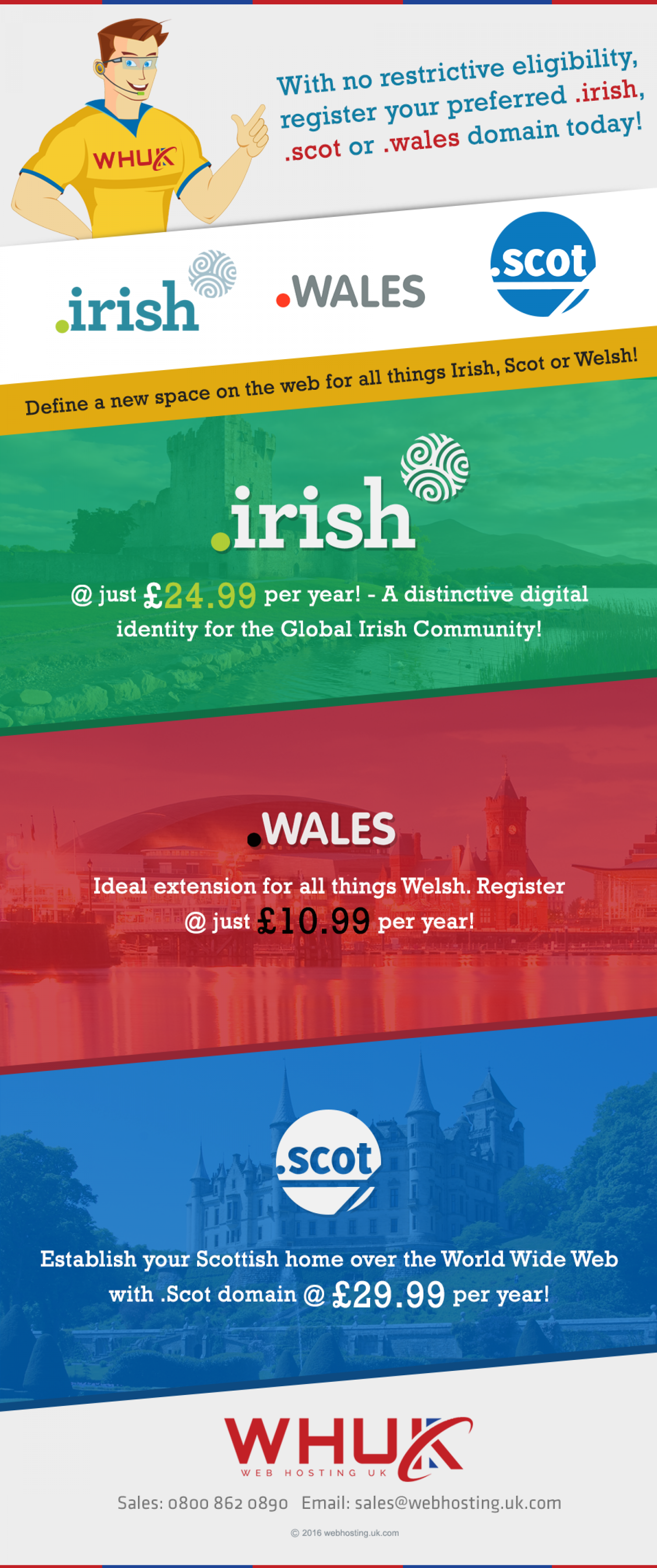 Register Your Preferred .irish, .scot and .wales Domain Today! Infographic