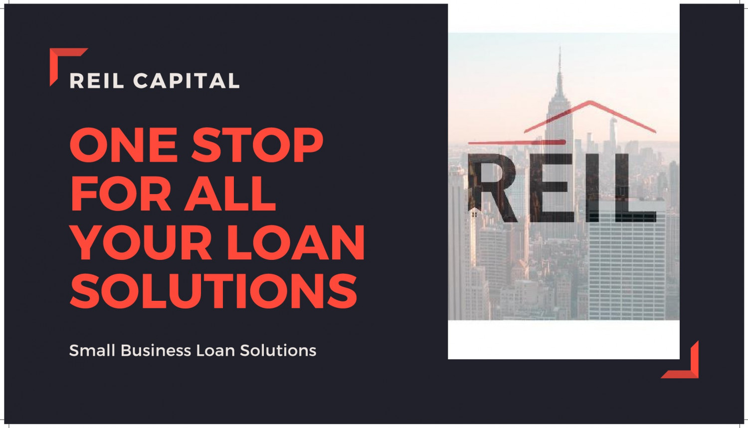 REIL Capital Small Business Loan Solutions Company Infographic
