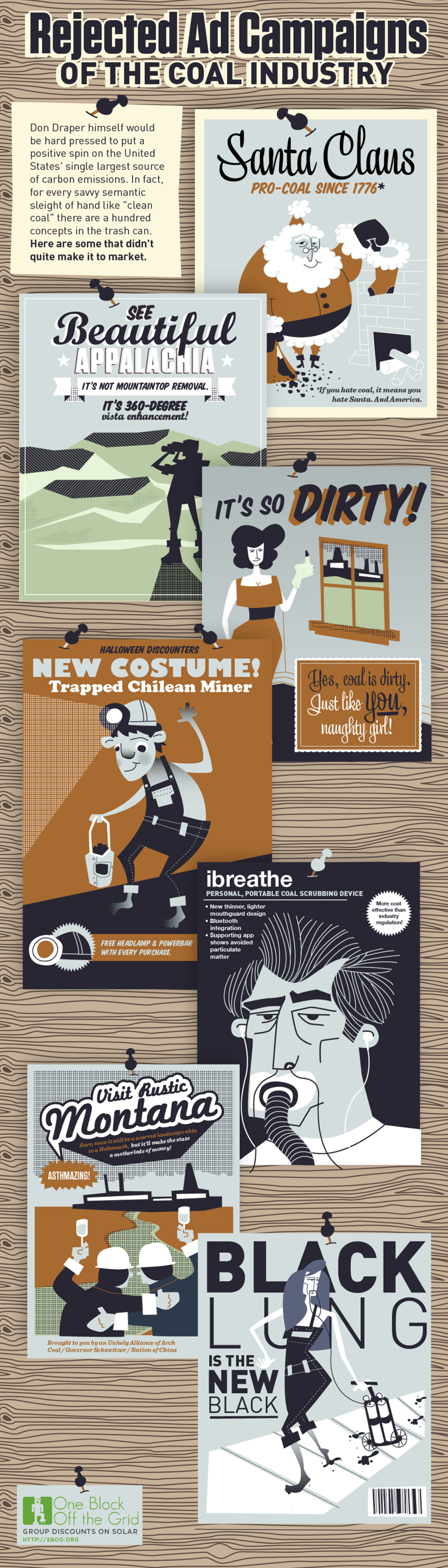 Rejected Ad Campaigns Of The Coal Industry  Infographic