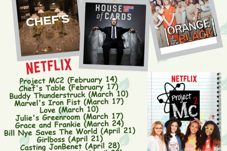 Releasing Dates for 12 Netflix Original Shows @1855-856-2653 Infographic