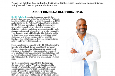 Releford Foot and Ankle Institute Infographic
