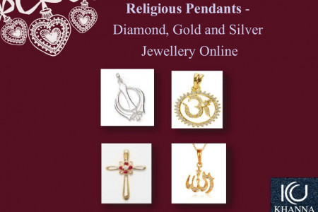 Religious Pendants - Diamond, Gold and Silver Jewellery Online Infographic