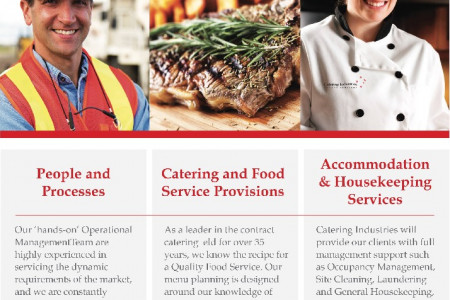 Remote Site Catering  Facilities Management Services - 100% Australian Owned and Operated since 1977   Infographic