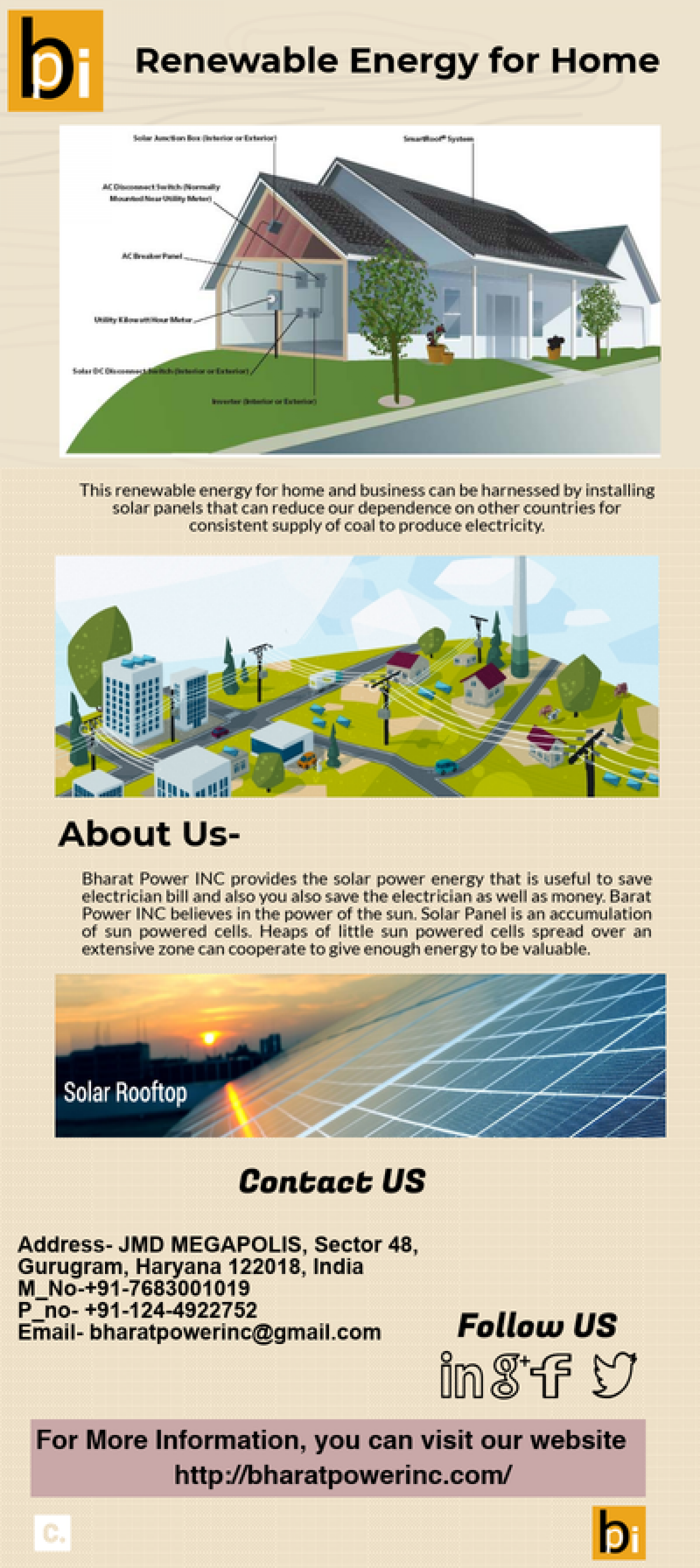 Renewable Energy for Home Infographic