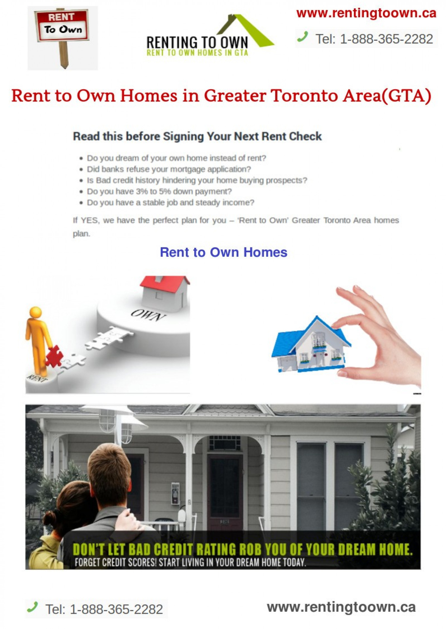 Rent to Own Homes in Greater Toronto Area(GTA) | Visual.ly