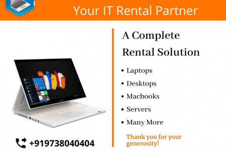 RentaPC: Laptop on Rent | Macbooks | Desktops @Lowest Price Delhi India Infographic