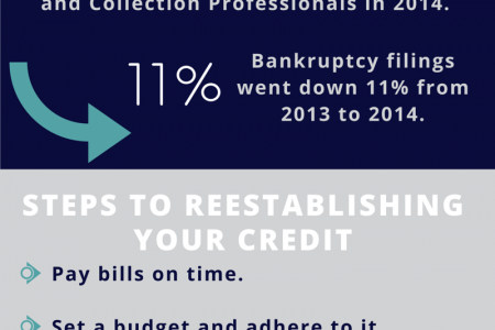 Repairing Credit Post-Bankruptcy Infographic