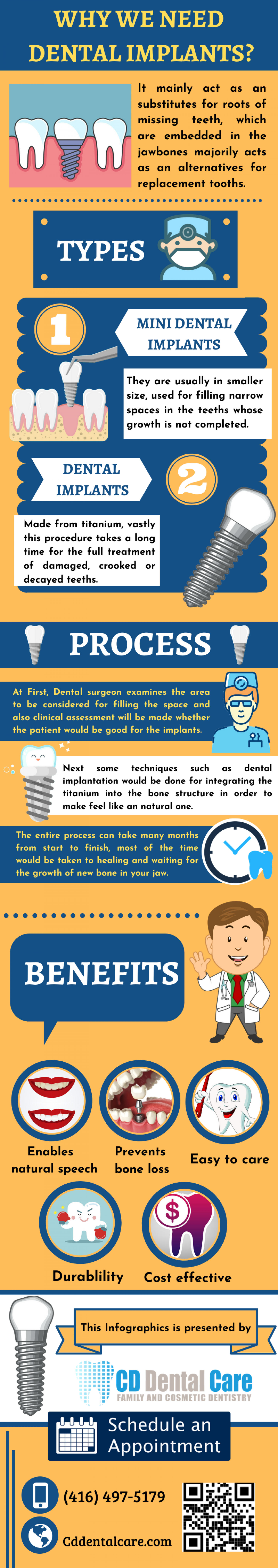 Replace your Lost Teeth with Implants Infographic